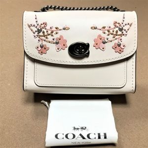 COACH Floral Embroidered Parker 18 Shoulder Bag
